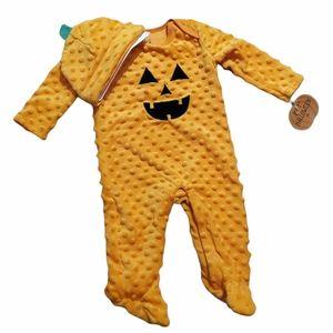 Chick Pea Infants Halloween Sleeper With Pumpkin Hat NWTS 6-9 Mo.
